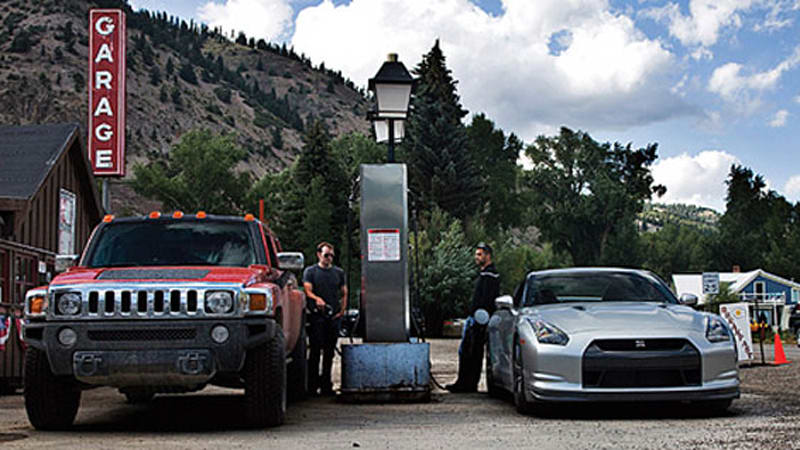 Ezra Dyer pits the Nissan GT-R versus    the Hummer H3T