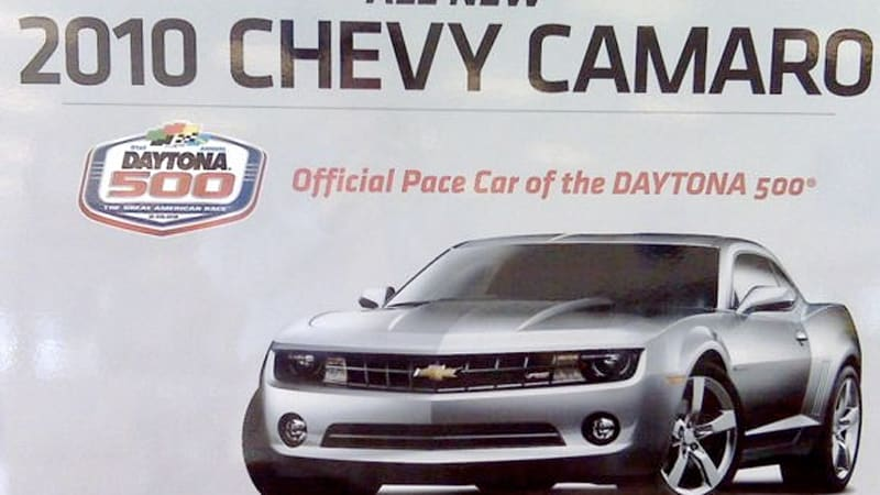 Chevy Camaro To Be Official Pace Car Of The Daytona 500 Autoblog