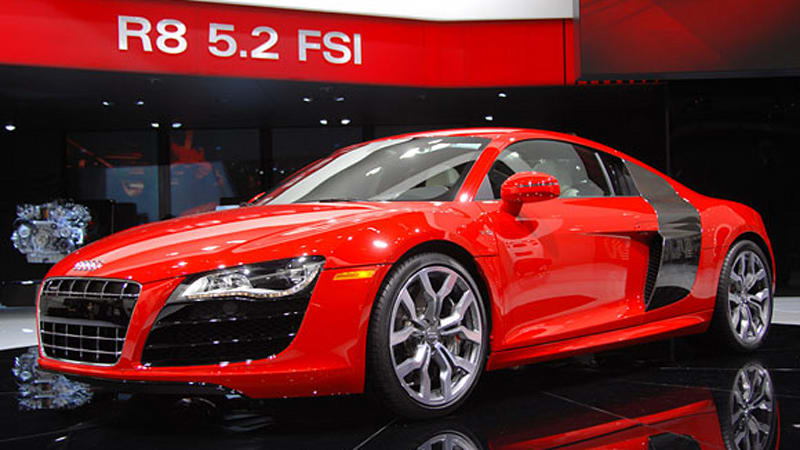 detroit 2009 audi r8 v10 5 2 fsi w video autoblog. Black Bedroom Furniture Sets. Home Design Ideas