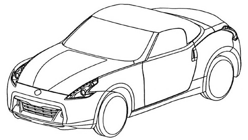 click above to view the nissan 370z roadster drawings