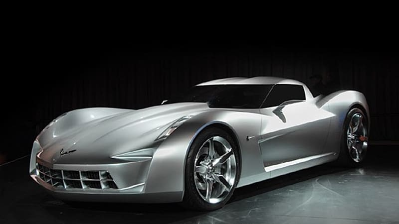 Chicago 2009 Gm Finally Rolls Out Corvette Stingray Concept W
