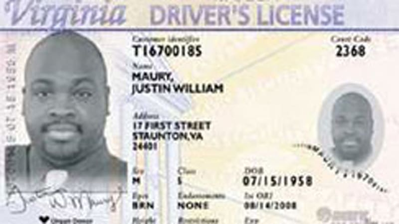 Example Driver Number License License Driver