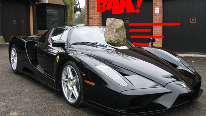 Virtual Insanity Jay Kay S Ferrari Enzo Damaged By Vandal