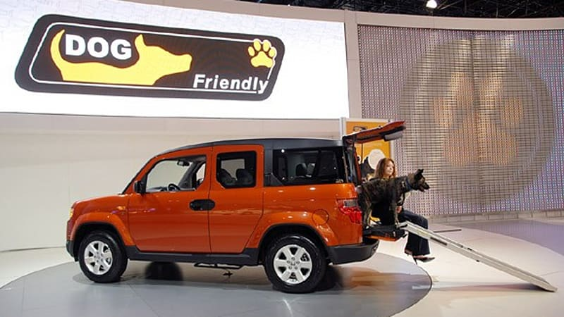 New York Honda Ramps Up Attention For Dogfriendly Element Concept - Car show ramps