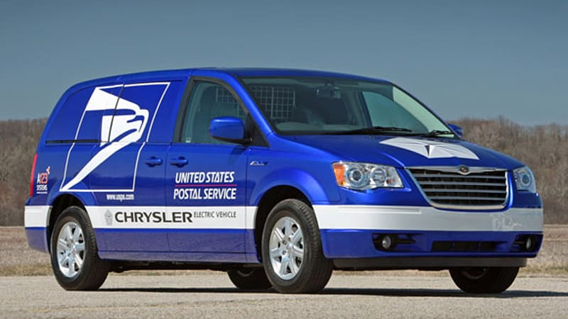 Chrysler Unveils New Electric Minivan For U S Postal Service Duty