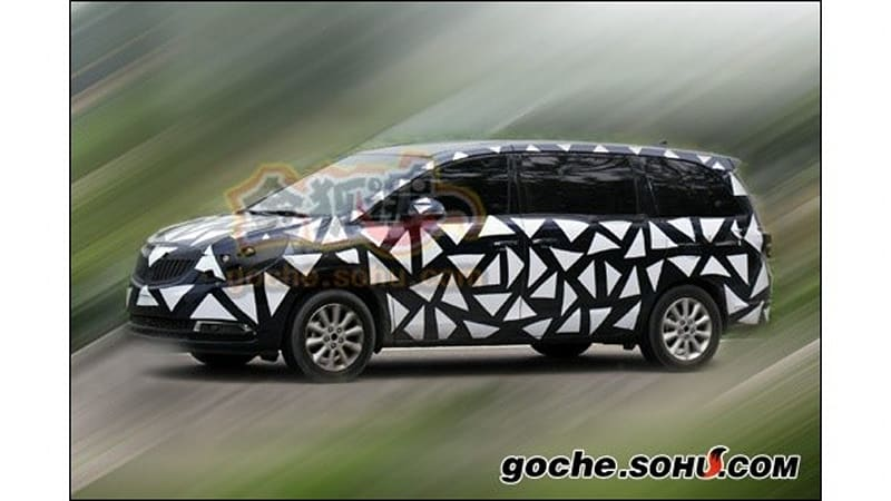 Spy Shots Chinese Market Buick Gl8 Successor Spotted Testing Autoblog