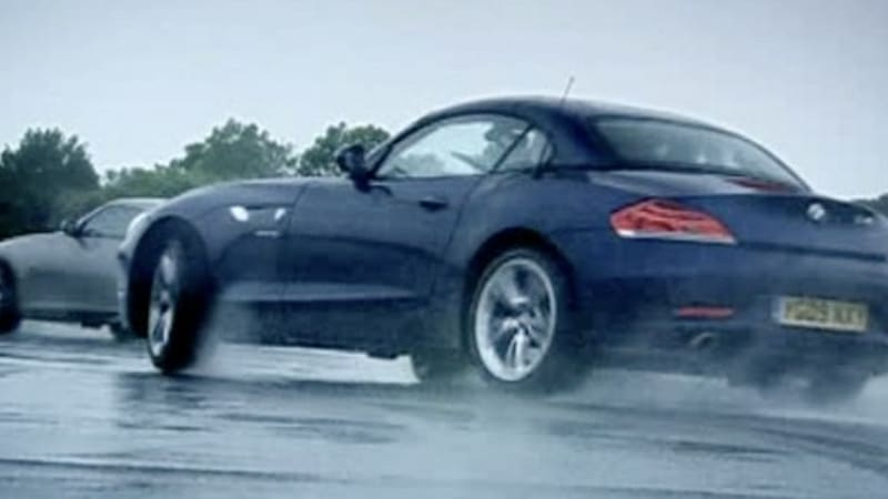 video top gear pits bmw z4 against nissan 370z autoblog. Black Bedroom Furniture Sets. Home Design Ideas