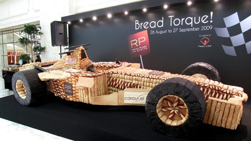Carb Control Asian Chefs Create Unreal Life Size F1 Car From Bread
