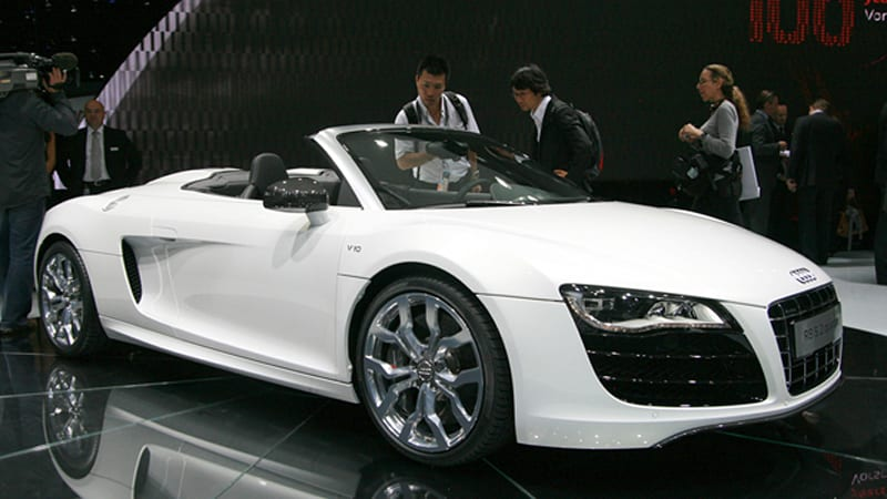 frankfurt 2009 2010 audi r8 spyder 5 2 v10 looks. Black Bedroom Furniture Sets. Home Design Ideas