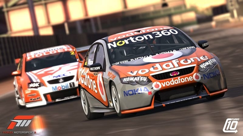 They Come From A Land Down Under Australian V8 Supercars Join In On The Forza 3 Action Autoblog