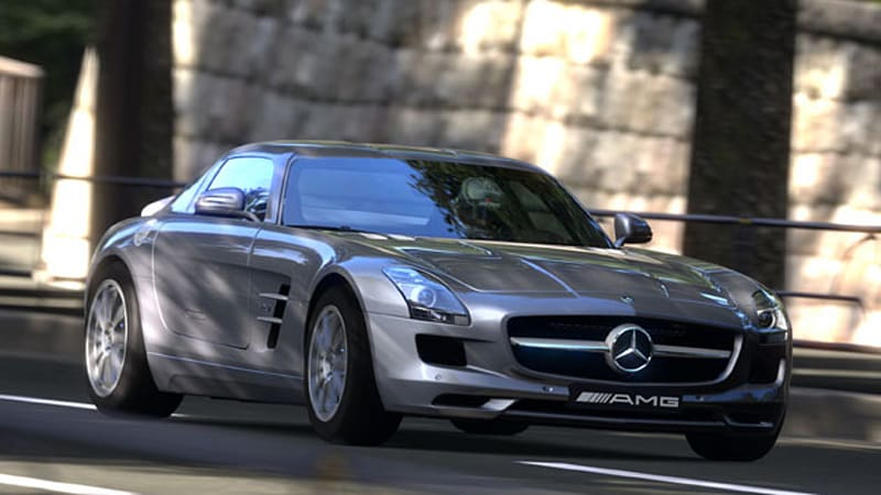 Mercedes Benz SLS AMG Looks Good In Gran Turismo 5, Too [w/VIDEO]   Autoblog