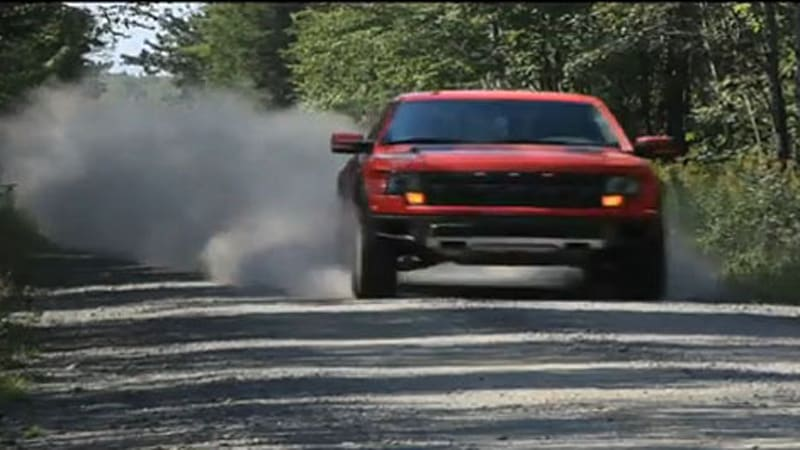 Video 0 60 Pits Ford Raptor Against Bmw X6 M In Winter Issue Autoblog