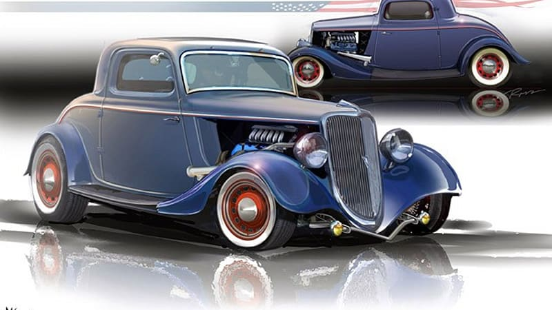 SEMA Preview: Ford stuffs 400-hp EcoBoost motor in '34 Hot Rod