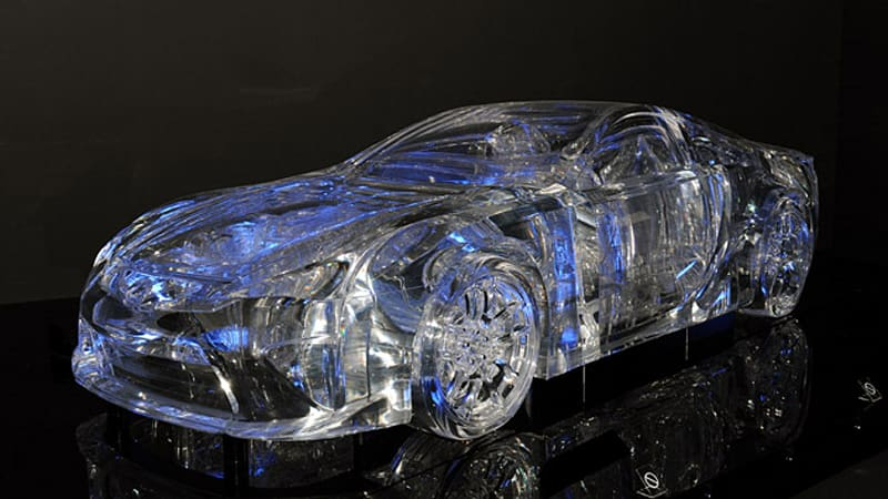 Wonderful Tokyo 2009: Cool As Ice: Japanese Architect Builds Full Size Transparent Lexus  LFA   Autoblog