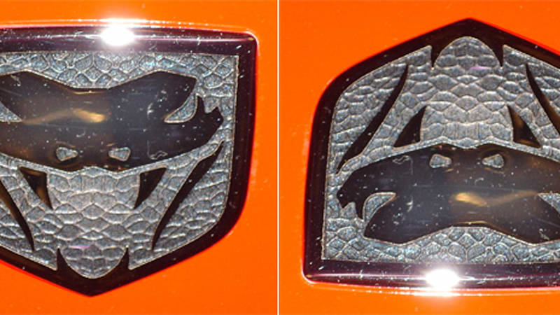 Turn The Dodge Viper Logo Upside Down And Guess Who Appears