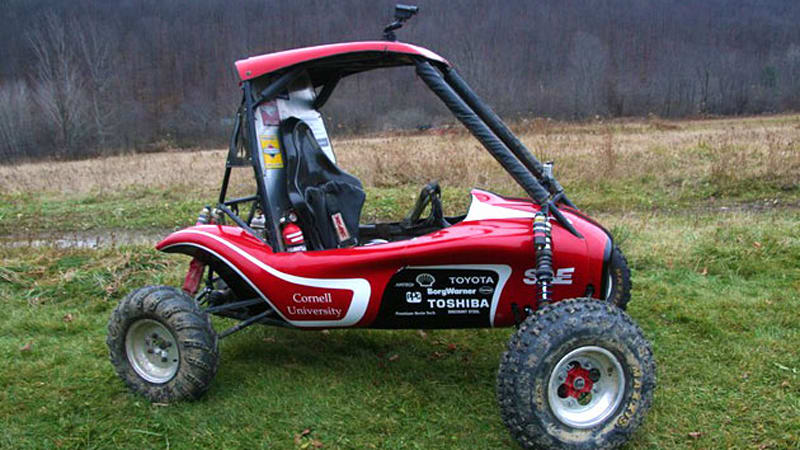 Cornell's SAE Baja buggy helps us get even with would-be alma mater