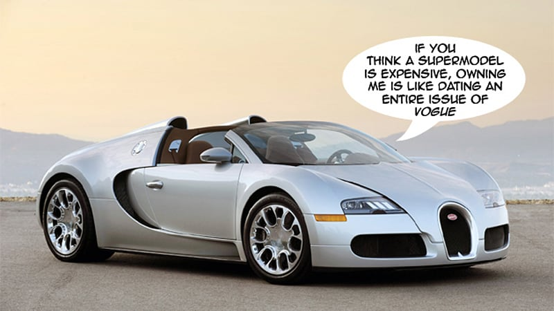bugatti veyron operating costs so expensive, it's cheaper to use a