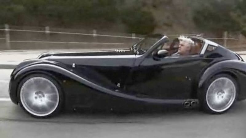 video jay lenos garage takes morgan aero supersports for a spin autoblog