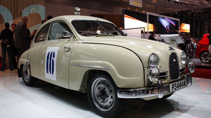 Geneva 2010: 1957 Saab 93 rally headed for Mille Miglia with