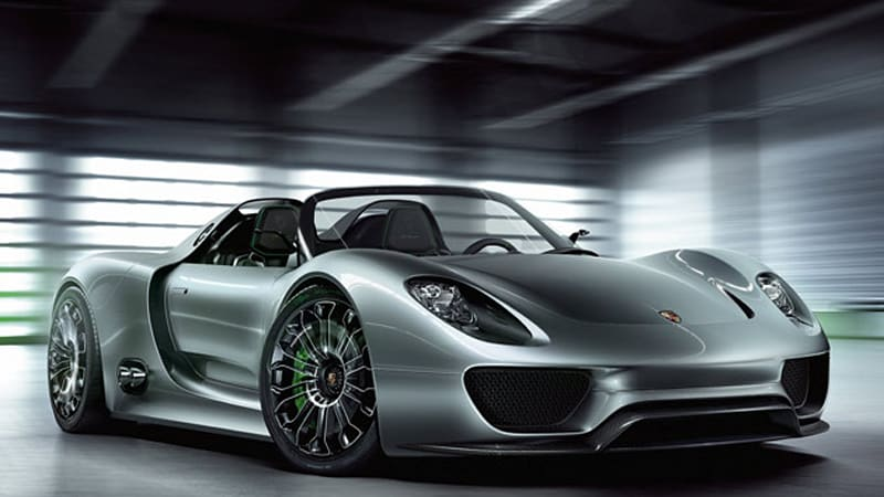 Porsche 918 Spyder plug-in hybrid concept gets 78 mpg, hits 62 mph on