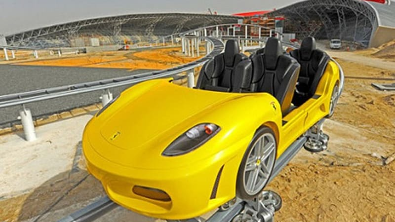 Video: Ferrari World Roller Coasters Pull Into The Station In Abu Dhabi    Autoblog