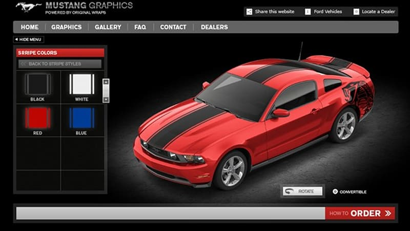 Ford Custom Vinyl Graphics Now Available For F Mustang Autoblog - Custom vinyl graphics for cars