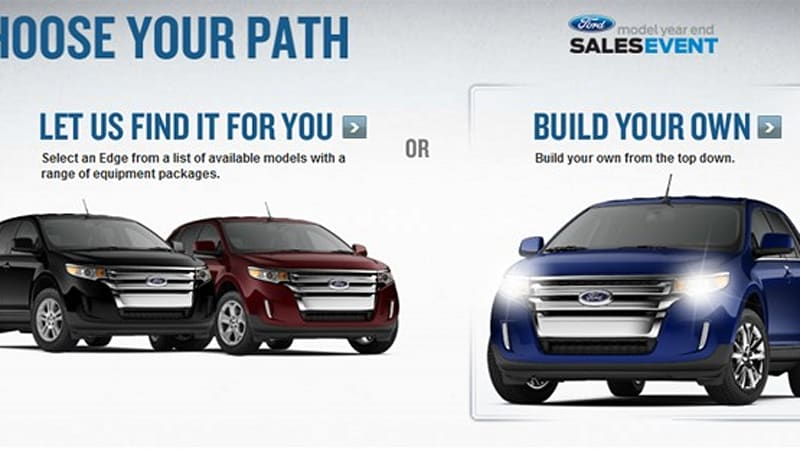Ford Edge And Lincoln Mkx Configurators Up And Running