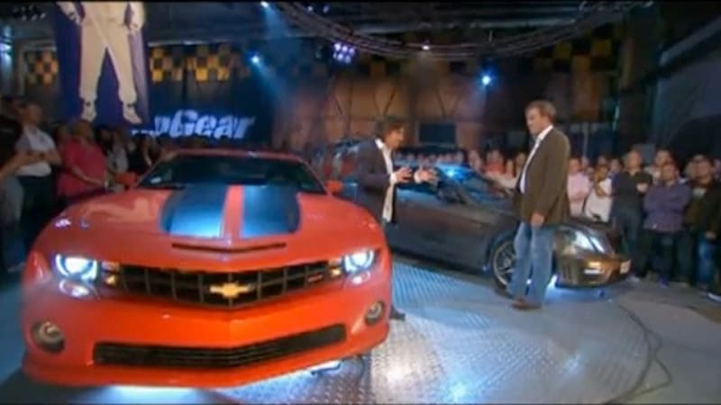 video: top gear pits chevy camaro against mercedes-benz e63 amg