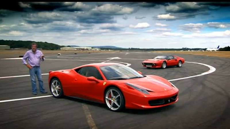 video: top gear and the ferrari 458 italia. what are you waiting