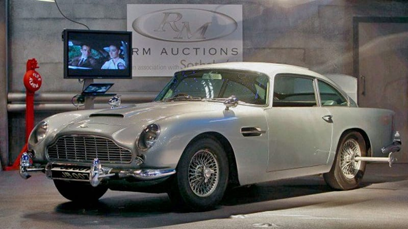 james bond 39 s aston martin db5 sells for 4 6 million autoblog. Black Bedroom Furniture Sets. Home Design Ideas