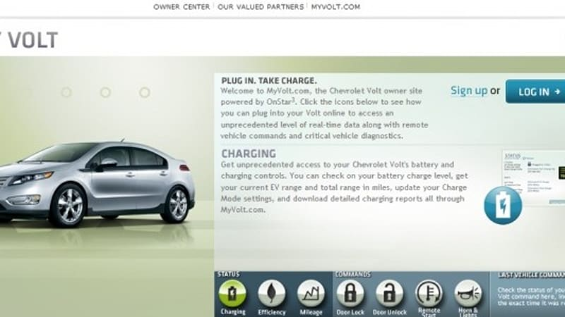 Chevy Volt owners get OnStar-powered website - Autoblog