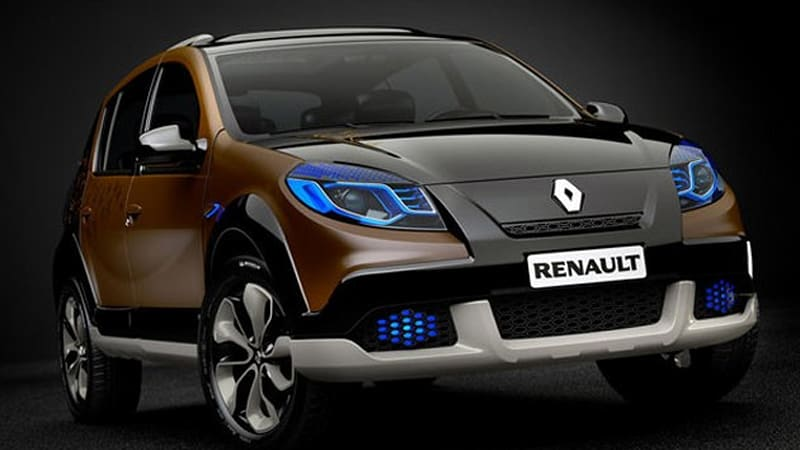 renault unveils sandero stepway concept in brazil autoblog. Black Bedroom Furniture Sets. Home Design Ideas