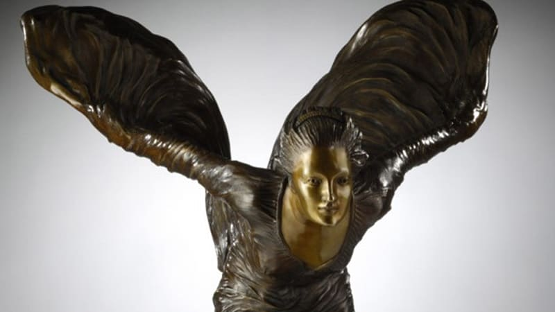Priory Fine Arts Flies The Spirit Of Ecstasy With Reproduction Sculptures Autoblog