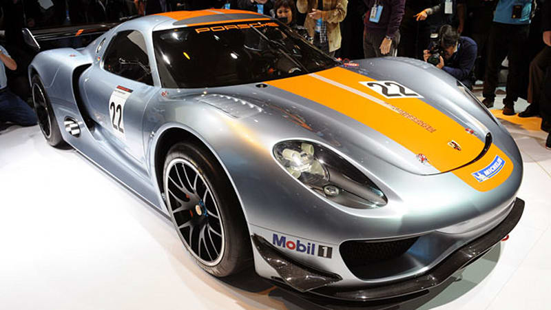 Detroit 2011 Porsche 918 RSR racer is a single,seat dream