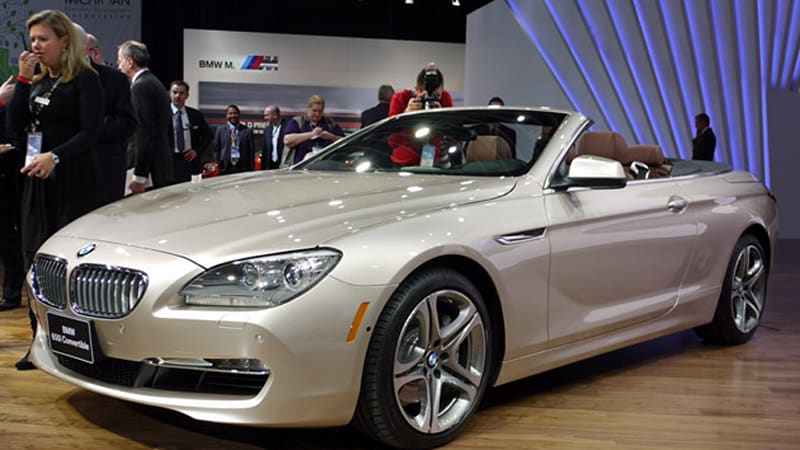 detroit 2011 2012 bmw 650i convertible goes topless in. Black Bedroom Furniture Sets. Home Design Ideas