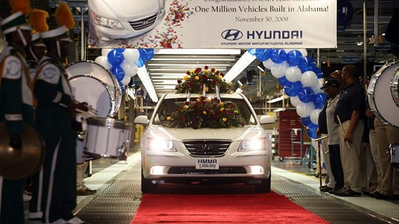 Hyundai reportedly considering second u s plant to meet for Hyundai motor manufacturing alabama