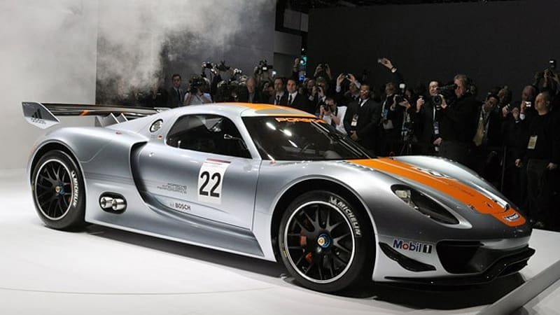 detroit 2011 porsche 918 rsr racer is a single seat dream w video