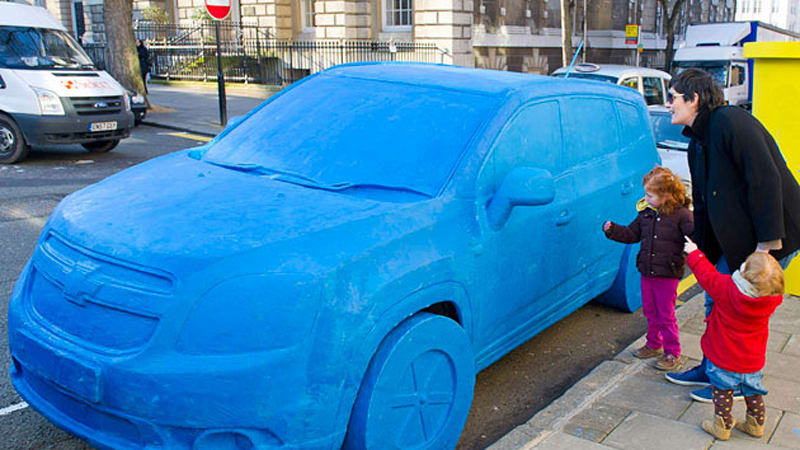 Life Size Play Doh Chevrolet Orlando Appears On London Streets