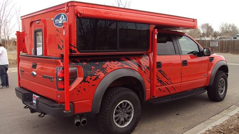 ford svt raptor rv created by phoenix campers autoblog rh autoblog com 2013 ford raptor camper shell 2017 ford raptor with camper shell