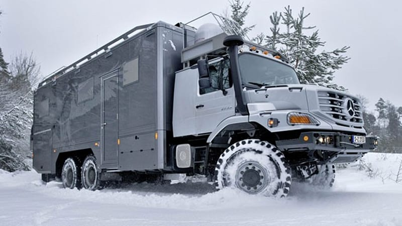 Mercedes benz zetros 6x6 luxed up for mongolian hunting for Mercedes benz zetros 6x6 expedition vehicle