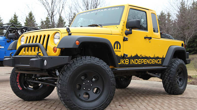 Jeep Jk 8 >> Jeep Jk 8 Independence Kit Finally Turns Your Wrangler Into A Pickup
