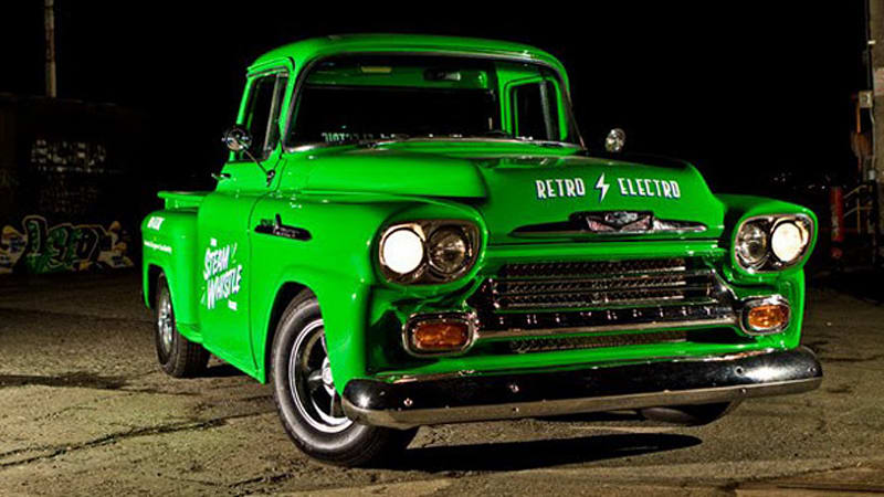 Steam Whistle Brewings Electric 1958 Chevrolet Apache Autoblog