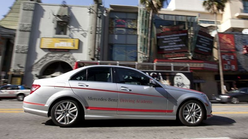 Mercedes benz usa launching its first teen driving school for Mercedes benz driving school los angeles