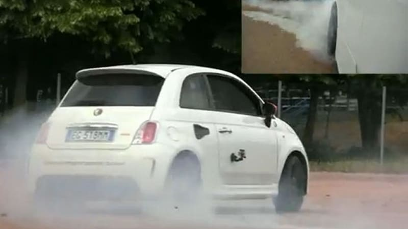 Abarth 500 Motore Centrale R230 Burns Through Its Shoes Autoblog