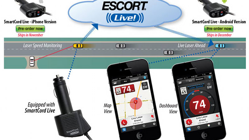 Escort marries social networking and radar detection with Android
