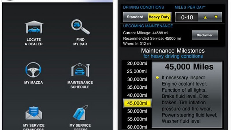 My Mazda App >> Mymazda App Lets You Keep Tabs On Service Schedules Autoblog