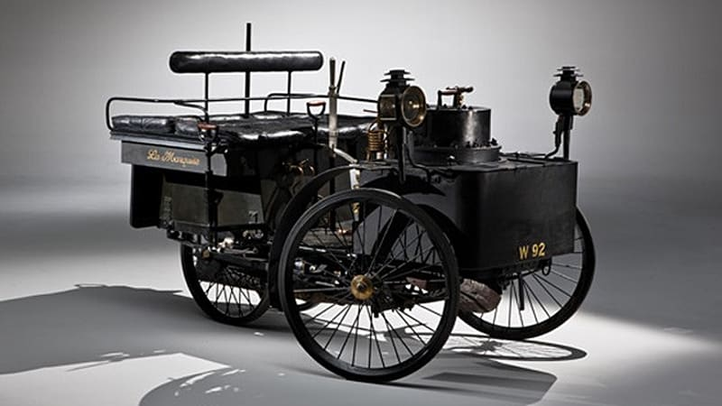 The World S Oldest Running Car An 1884 De Dion Bouton Et Trapardoux Dos A Steam Runabout Made History Friday Fetching 4 62 Million At Rm Auctions