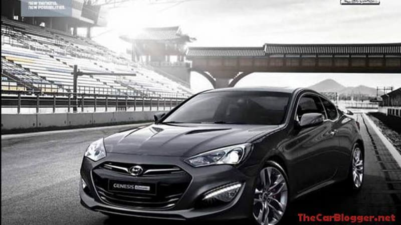 New 2017 Hyundai Genesis Coupe Image Leaks Out Update