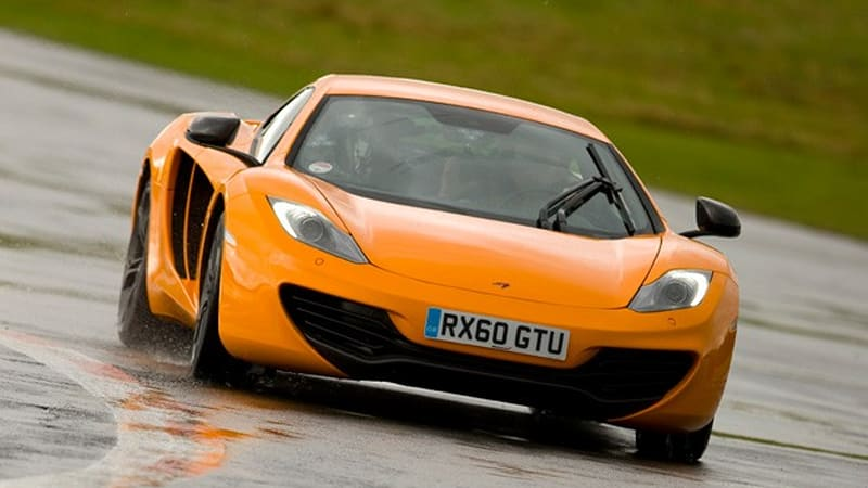 Getting wet with the McLaren MP4-12C at The Stig's stomping