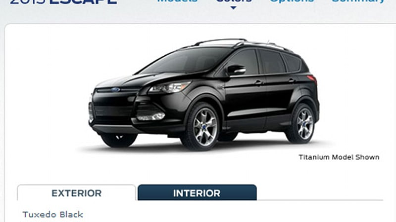 2013 ford escape configurator powers up prices subject to change autoblog. Black Bedroom Furniture Sets. Home Design Ideas